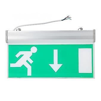 שלטי יציאת חירום הובילו אור תמרור יציאת חירום לפינוי בטיחות