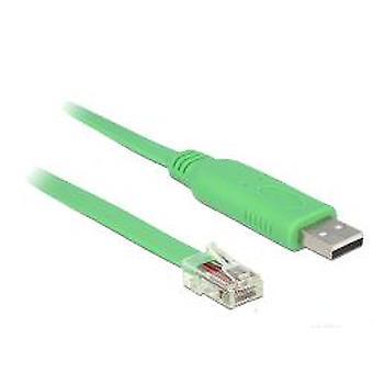 DELOCK adaptador USB 2.0 tipo A macho a Serial RS-232 RJ45 macho