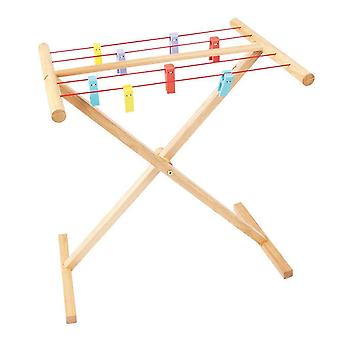 Toy kitchens play food clothes airer
