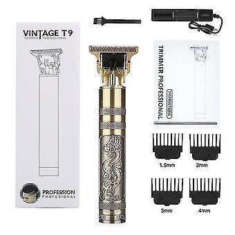 T9 usb akumulator do strzyżenia włosów elektryczny trymer do włosów bezprzewodowa golarka broda brzytwa 0mm mężczyźni fryzjer