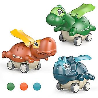 3pcs Cute Press Dinosaur Toy Boy Girl Birthday Christmas Present
