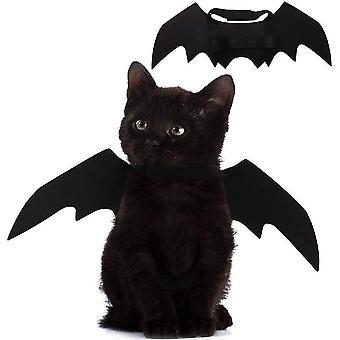 Katt förvandlas till kostym husdjur Halloween Bat Vingar
