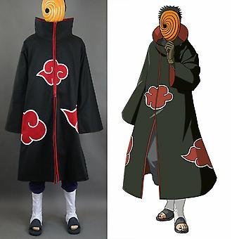 Naruto Akatsuki Tobi Uchiha Obito Robe Umhang Mantel + Harz Maske Cosplay Kostüm