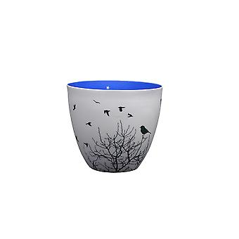 Light-Glow Night Birds Golden Circle Tealight Candle Holder, 3 inch