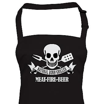 Natural Born Griller Funny BBQ Apron, Fathers Day Birthday Gift Barbecue Smoker