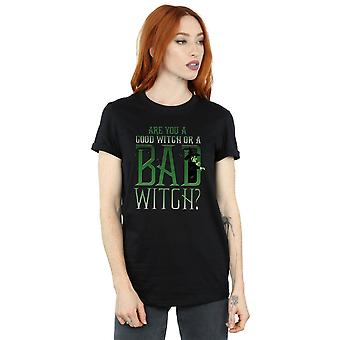 The Wizard Of Oz Women's Good Witch Bad Witch Boyfriend Fit T-Shirt
