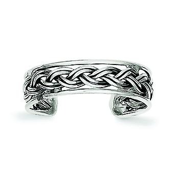 925 Sterling Silver Solid finish Toe Ring Jewely Gifts for Women - 1.1 Grams