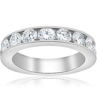 1 1 / 2ct Diamanten 14K Weißgold Ehering