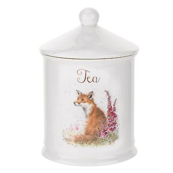 Wrendale Royal Worcester projektuje herbaty kanister, Fox