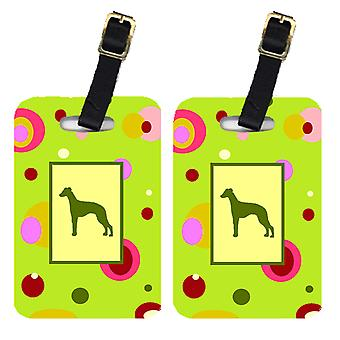 Carolines Treasures  CK1072BT Pair of 2 Whippet Luggage Tags