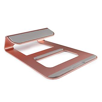 Premium Metal Laptop Stand Solid Aluminum Alloy Holder Compatible with all Macbooks and Laptops - Pink