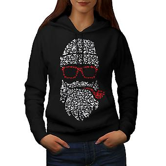 Santa Swag Cool Christmas Women BlackHoodie | Wellcoda