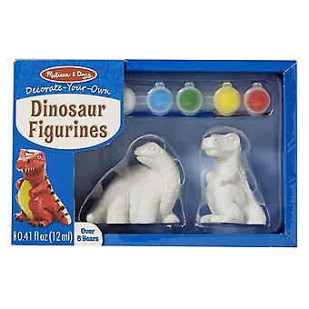 Melissa & Doug Decorate-Your-Own Dinosaur - 2 Solid-Resin Dinosaurs