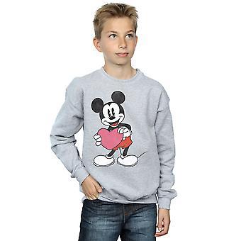 Disney Boys Mickey Mouse Valentine Heart Sweatshirt