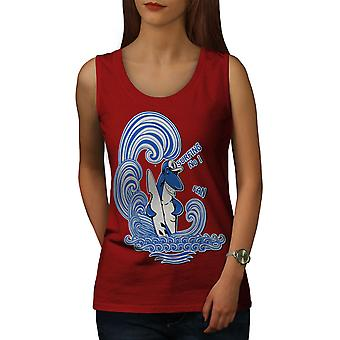 Requin Surf Fun animale femmes RedTank Top | Wellcoda