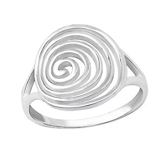 Spiral - 925 Sterling Silver Plain Rings - W36160x