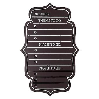 Wall Mounted Chalkboard Checklist