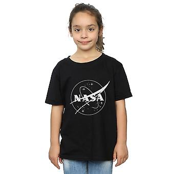 NASA Girls Classic Insignia Logo Monochrome T-Shirt