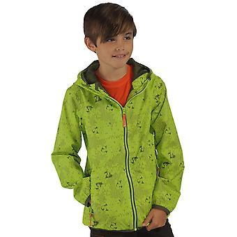 Regaty chłopców & dziewczyny drukowanych dźwigni wodoodporna oddychająca kurtka