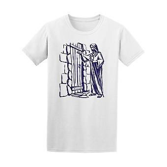 Jesus Christ At The Door Tee Men's -Image by Shutterstock