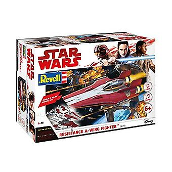Revell 6759 Star Wars Episódio Viii Build & Play Red A-Wing Fighter Plastic Model Kit