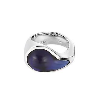 ESPRIT women's ring stainless steel Silver drip drop blue ESRG11567B1