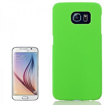 Manguito de goma verde de estuche para Samsung Galaxy S6 G920 G920F