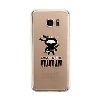 Cancer Fighting Ninja Clear Phone Case