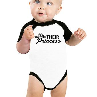 Their Princess Baby Girl Baseball Bodysuit Cute Raglan For Baby Girls