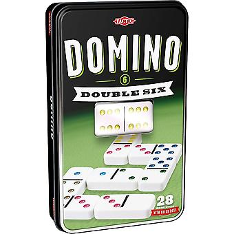 Tactiek Games UK dubbel 6 dominospel