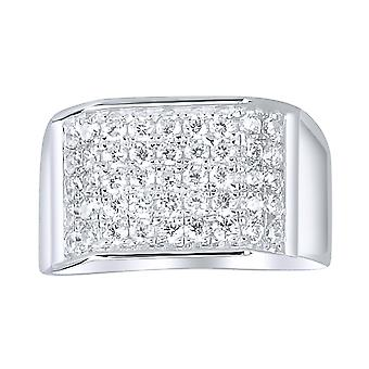 Sterling 925er Silber Pave Ring - EDGY