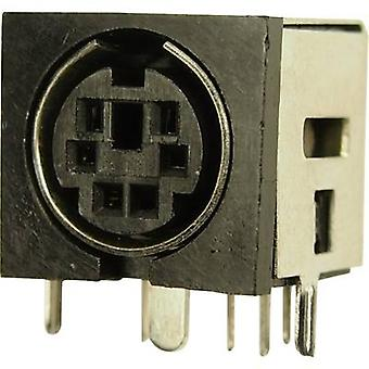 Cliff FC680945 DIN connector Socket, horizontal mount Number of pins: 8 1 pc(s)