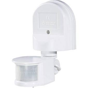 Renkforce 1296294 Wall PIR motion detector 180 ° Relay White IP44