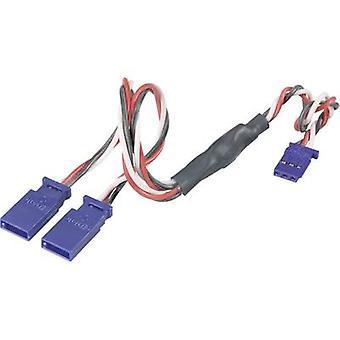 Modelcraft Servo Y Kabel [2x Futaba Stecker - 1x Futaba Buchse] 0.5 mm2