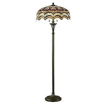Interiors 1900 Vesta Tiffany Floor Lamp With Arched Design Glass Shade