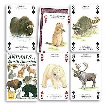 北アメリカの動物を 52 のトランプ (+ ジョーカー) の設定します。