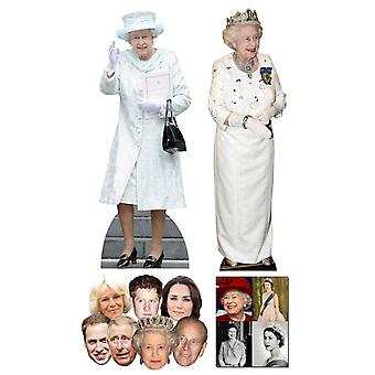 Queen Elizabeth II 90th Birthday Commemorative Pack B - includes Lifesize Cutouts Masks and Photo