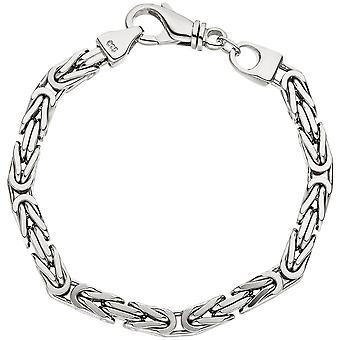 Armband Königsarmband 925 Sterling Silber 23 cm Armband Silberarmband Karabiner
