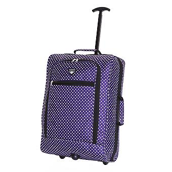 Slimbridge Montecorto cabine Trolley tas, paarse stippen