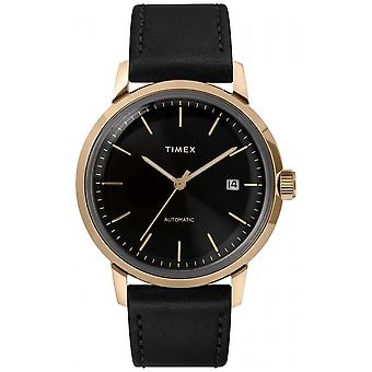 Timex Marlin Mens Automatic Black Leather Strap TW2T22800 Watch