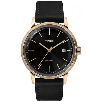 Timex Marlin Mens Automatisches schwarzes Lederarmband TW2T22800 Uhr