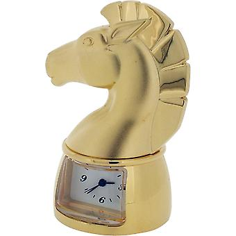 Gift Time Products Chess Knight Miniature Clock - Gold