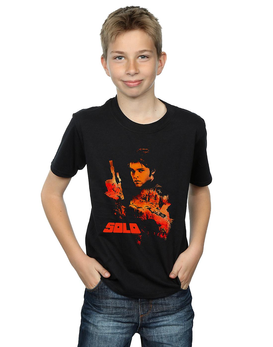 Star Wars Boys Solo Coloured Silhouette T-Shirt