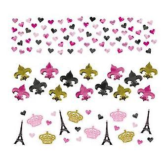 Paryż 3 szt dla konfetti. Tischkonfeti zestaw toreb 34 g