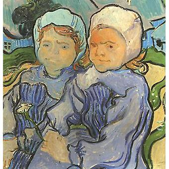 Two Children,Vincent Van Gogh,51.2x51cm