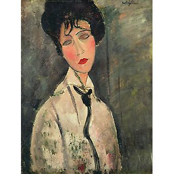 Femme a la cravate noire, Amedeo Modigliani, 50x40cm