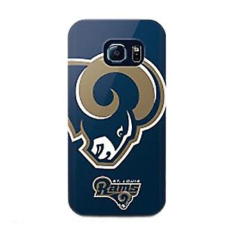 Mizco Sports NFL Oversized Snapback TPU Case for Samsung Galaxy S6 Edge (St. Louis Rams)