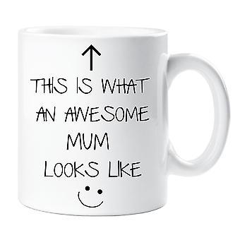 Dette er, hvad en Awesome mor ligner V2 krus