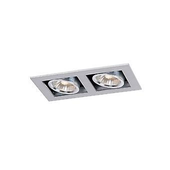 Lucide Schornstein modernen Rechteck Aluminium Satin Chrome versenkt Spot-Licht
