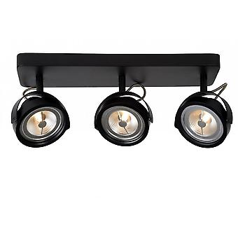 lucide Tala LED moderne Rectangle métal noir plafonnier Spot